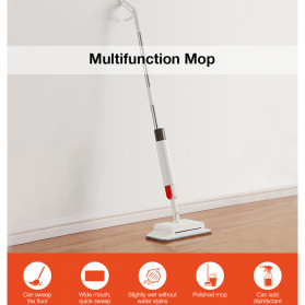 Xiaomi Deerma Water-Spray Mop Sweeper Sapu Pel Elektrik 2 in 1 - TB900 - White