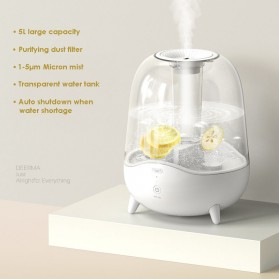 Xiaomi Deerma Pelembab Udara Air Humidifier Aroma Diffuser Ultrasonic Purifying Dust Filter 5L - DEM-F325 - White - 3