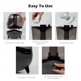 Xiaomi Deerma Air Humidifier Ultrasonic Pelembab Udara Aromatherapy Oil Diffuser 5L - DEM-F323 - Black - 5