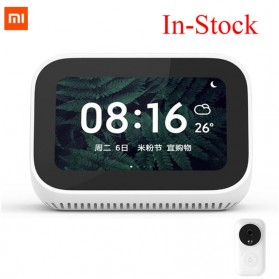 Xiaomi AI Touch Screen Smart Speaker Digital Display Alarm Bluetooth 5.0 - LX04 - White