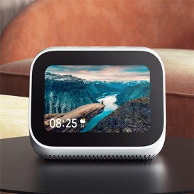Xiaomi AI Touch Screen Smart Speaker Digital Display Alarm Bluetooth 5.0 - LX04 - White - 2
