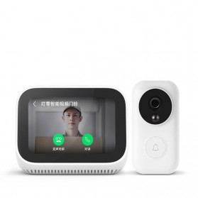 Xiaomi AI Touch Screen Smart Speaker Digital Display Alarm Bluetooth 5.0 - LX04 - White - 6