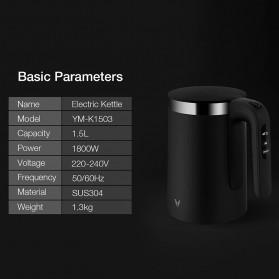 Xiaomi Viomi Teko Listrik Pemanas Air Electric Kettle Stainless Steel 1800W-  V-SK152B - Black - 2