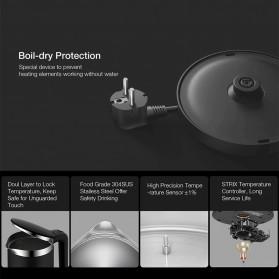Xiaomi Viomi Teko Listrik Pemanas Air Electric Kettle Stainless Steel 1800W-  V-SK152B - Black - 4