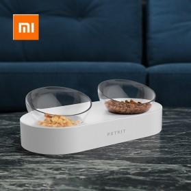 Xiaomi PETKIT Tempat Makan Hewan Peliharaan Kucing Anjing Feeding Dishes Double Bowl - White