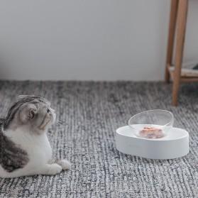 Xiaomi PETKIT Tempat Makan Hewan Peliharaan Kucing Anjing Feeding Dishes Double Bowl - White - 5
