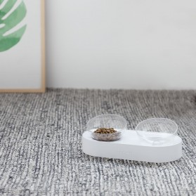 Xiaomi PETKIT Tempat Makan Hewan Peliharaan Kucing Anjing Feeding Dishes Double Bowl - White - 6