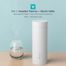 Viomi Teko Listrik Bottle Cup Portable Stainless Steel 400ml 220V -  YM-K0401 - White - 4