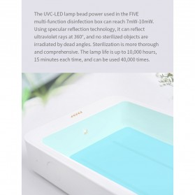 Xiaomi FIVE Smartphone Sterilizer Box Disinfection Ultraviolet UV Light with Wireless Charger 10W - YSXDH001WX - White - 12