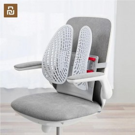Leband Sandaran Kursi Ergonomic Adjustable Lumbar Back Support Dynamic Backrest - LB-YK002 - White