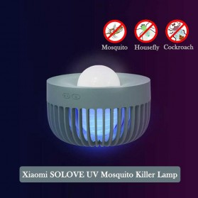 SOLOVE Pembasmi Nyamuk Mosquito Killer UV Night Light Trap Lantern Repellent Lamp - 002D - White