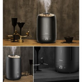 Xiaomi DEERMA Air Humidifier Ultrasonic Aromatherapy Oil Diffuser Large Capacity 5L Touch Screen -DEM-F600 - White - 5
