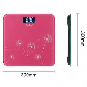 WeiHeng Timbangan Badan Digital Kaca - R18L - Pink - 5