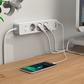 Orico Stop Kontak Power Strip 3 Plug EU with 2 USB Port 2.4A - GPC-3A2U - White - 4