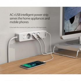 Orico Stop Kontak Power Strip 3 Plug EU with 2 USB Port 2.4A - GPC-3A2U - White - 7