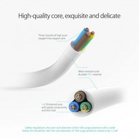 Orico Stop Kontak Power Strip 3 Plug EU with 2 USB Port 2.4A - GPC-3A2U - White - 10