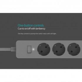 Orico Stop Kontak Power Strip 3 Plug EU with 2 USB Port 2.4A - GPC-3A2U - White - 12