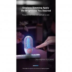 Baseus Pembasmi Nyamuk UV Light Mosquito Killer Bionic Lamp - ACMWD-LB02 - White - 9