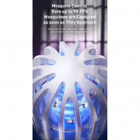 Baseus Pembasmi Nyamuk UV Light Mosquito Killer Bionic Lamp - ACMWD-LB02 - White - 4