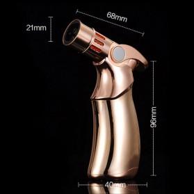 JOBON Korek Api Torch Lighter 4 Jet Flame Gas Butane - COB-659 - Silver - 4