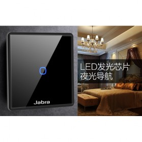 Jabra Saklar Lampu Touch LED 1 Button - JB2 - Black - 4