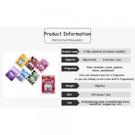 Taffware HUMI Essential Oils Minyak Aromatherapy Diffusers 3ml Lavender 6 PCS - 26461 - 9