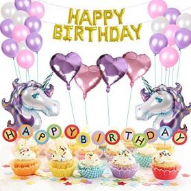 Set Balon Pesta Ulang Tahun Unicorn - Multi-Color - 2