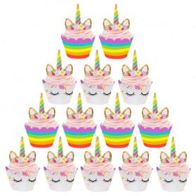 Hiasan Cup Cake Kue Model Unicorn 12 PCS - Multi-Color - 3