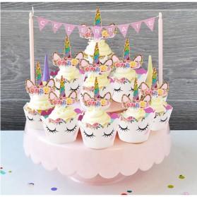 Hiasan Cup Cake Kue Model Unicorn 12 PCS - Multi-Color - 5