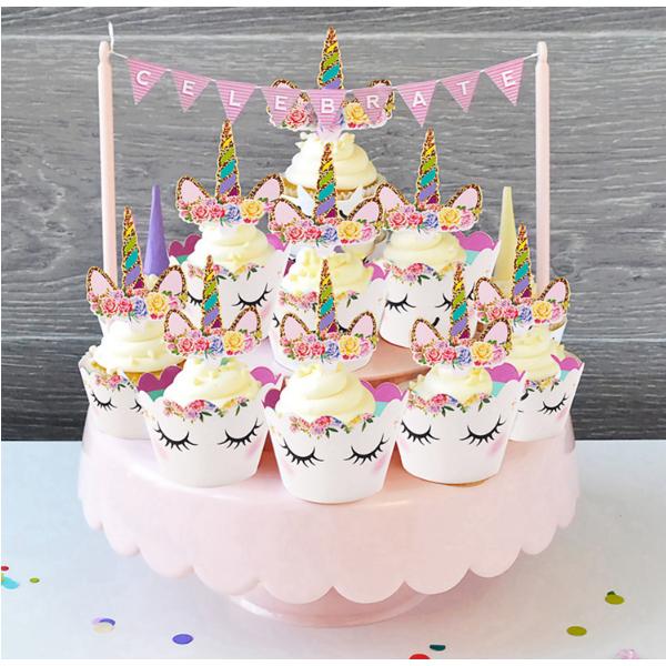 Hiasan Cup Cake Kue Model Unicorn 12 Pcs Multi Color Jakartanotebookcom