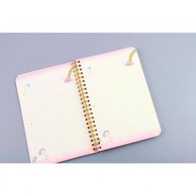 Buku Catatan Harian Unicorn Notebook - Multi-Color - 4