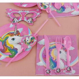 Set Perlengkapan Pesta Ulang Tahun Unicorn - Multi-Color - 3