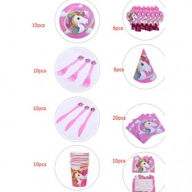 Set Perlengkapan Pesta Ulang Tahun Unicorn - Multi-Color - 5