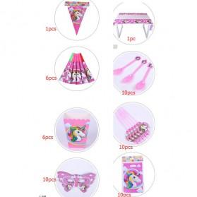 Set Perlengkapan Pesta Ulang Tahun Unicorn - Multi-Color - 6