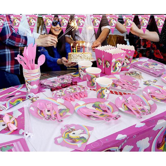 Set Perlengkapan Pesta Ulang Tahun Unicorn Multi Color
