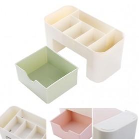 RORASA Kotak Organizer Kosmetik Perhiasan Rak Make Up - JAC000355 - Pink - 5