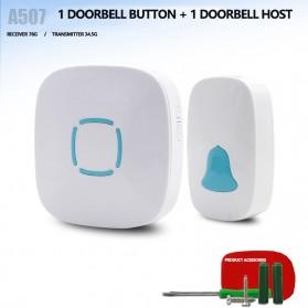 BOYING Bel Pintu Wireless Doorbells Waterproof 36 Nada 1 Receiver - A507 - White - 2