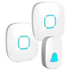 BOYING Bel Pintu Wireless Doorbells Waterproof 36 Nada 2 Receiver - A507-2 - White