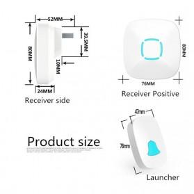 BOYING Bel Pintu Wireless Doorbells Waterproof 36 Nada 2 Receiver - A507-2 - White - 3