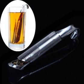 Filter Saringan Infuser Teh Ramuan Herbal Bahan Stainless Steel - Silver