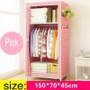Lemari Pakaian Kain Rakitan DIY 150x70x45cm - Pink