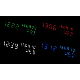 Jam Weker Alarm Kayu Digital Voice Control - TX602 - Yellow with White Side - 6
