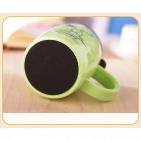 Gelas Mug Insulated Stainless Steel Model Cat - 420ml - Black - 5