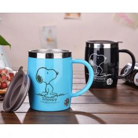 Gelas Mug Insulated Stainless Steel Model Cat - 420ml - Black - 7