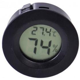 Thermostat Digital Pengukur Thermometer Kelembaban Udara - Black