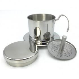 Gelas Filter Kopi Vietnam Coffee Dripper Stainless Steel - Silver