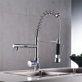Kepala Keran Air Dapur Flexible Kitchen Shower 360 Swivel Hot & Cold - Silver