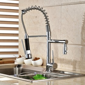 Kepala Keran Air Dapur Chrome Flexible Tap 360 Swivel Hot & Cold - QP001 - Silver