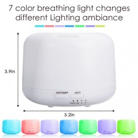 Taffware Air Humidifier Aromatherapy Oil Diffuser + 7 LED - HUMI H770 - White - 4