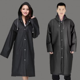 Jas Hujan Portable Raincoat Poncho with Hood - 369 - Black - 1